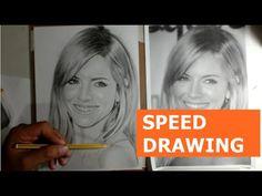 [Speed Drawing]  Desenho Realista de Retratos Siena Miller por Carlos Da...