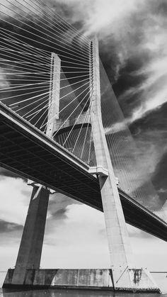 Ponte Vasco da Gama by alvaronunes A Year Ago, George Washington Bridge, City, Travel, Tattoo, Wallpaper, Painting, Lisbon Portugal, Museums