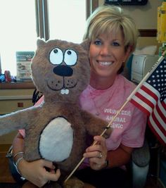 Homeschool Mom Protests 'Muslim Indoctrination' At School Her Kids Don't Attend | Wonkette - Nothing more patriotic than a flag-waving beaver shot