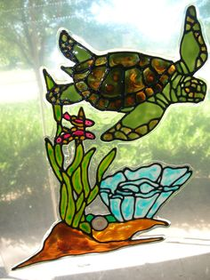 Hey, I found this really awesome Etsy listing at https://www.etsy.com/listing/109545056/sea-turtle-with-seaweed-and-coral