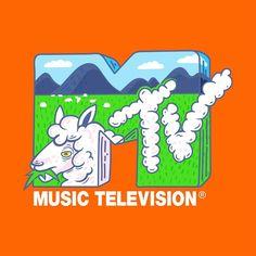 MTV Sheep Logo by Annika Brandow (2018) Sheep Logo, Mtv Music Television, Channel Logo, Nostalgic Pictures, Skateboard Design, Classic Tv, Graphic Design Posters, Cartoon Wallpaper, Custom Logos