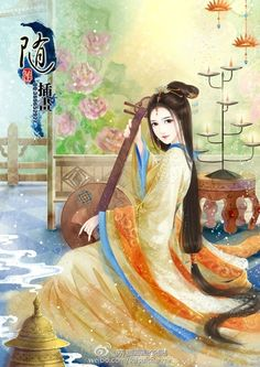Fantasy Art Women, Beautiful Fantasy Art, Chinese Drawings, Art Asiatique, Autumn Illustration, Art Of Beauty, Painting Of Girl, China Art, Creative Pictures