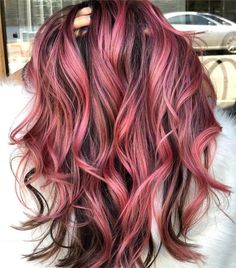 Amzing Hair Colors & Ideas for Women 2019 Amzing Haarfarben & Ideen für Frauen 2019 Hair Color For Women, Red Hair Color, Hair Color Balayage, Cool Hair Color, Ombre Hair, Red Ombre, Color Red, Hair Colours, Pink Hair Highlights