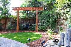 Arbor with Swing Plans | ... garden paver patio raised planter beds shade garden single post arbor