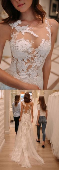 Tight lace wedding dresses with court train, fashion wedding gowns - Material: tulle, satin, pongee. Color: picture color or other colors, there are 126 colors ar - Wedding Dress Pictures, Wedding Dress Styles, Dream Wedding Dresses, Wedding Gowns, Wedding Speeches, Wedding Dress Petite, 50s Wedding, Wedding Ideas, Mint Bridesmaid Dresses