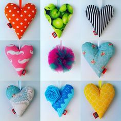 Bravehearts! Let's add some colour to the home interior, even little things can make a difference… #heart #hearts #plush #homedecor #kidsroom #homedecoration #colour #craft #sewing #decoration #etsy #etsyshop