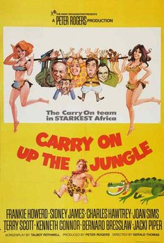 Carry On Up The Jungle (1970)  Movie Posters https://www.youtube.com/user/PopcornCinemaShow