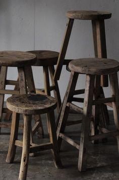 modern shaker style - wood stool