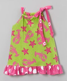 Look what I found on #zulily! Green Lobster Ruffle Tunic - Infant, Toddler & Girls by Corky's Kids #zulilyfinds