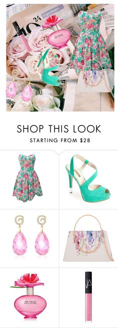 """rose!"" by dina-minichino on Polyvore featuring moda, GUESS, Ted Baker, Marc Jacobs e NARS Cosmetics"
