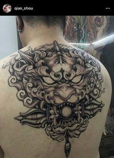 Foo Dog Tattoo, Tattoo Ideas, Skull, Japanese, Ink, Tatoo, Japanese Language, India Ink, Skulls