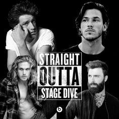 Straight Outta Stage Dive (by Kylie Scott) | fan art by @eveningblues