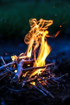 Late summer bonfires.