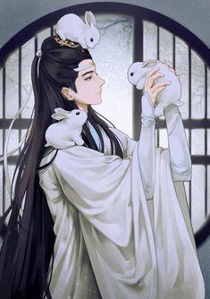 I give you Lan Zhan, husband of Lan Ying and adoptive father of Lan Sizhui. Manga Boy, Manga Anime, Anime Art, Handsome Anime Guys, Handsome Boys, Kill La Kill, Shounen Ai, Chinese Boy, Anime Fantasy
