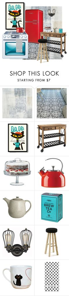 """""""Cool Cats"""" by jannieboots ❤ liked on Polyvore featuring interior, interiors, interior design, home, home decor, interior decorating, Casadeco, Retrò, Crosley and LSA International"""