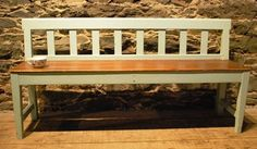 Painted Antique Country Danish Bench, Circa 1900