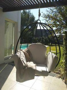 Sillon Hamaca Metal Sin Soporte, Oferta¡ Con 4 Almohadones - $ 19.900,00 en Mercado Libre Garden Swing Seat, Hanging Egg Chair, Glamping, Home Improvement, Deck, Furniture, House, Home Decor, Bedroom