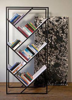 meuble de design contemporain en métal noir