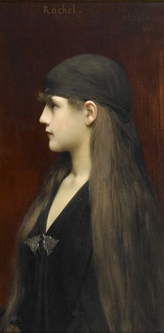 Rachel, Jules-Joseph Lefebvre.   French Academic Painter (1836 - 1911)  QUE ME LO ENVUELVAN !!!! diria en un anticuario si me encontrara este retrato.......ME LO LLEVO.......QUE ME LO ENVUELVAN!!!!!!