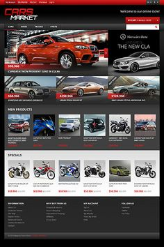 Magento #template // Regular price: $180 // Unique price: $2500 // Sources available: .PSD, .XML, .PHTML, .CSS  #Magento #Responsive #Car #Market #Store