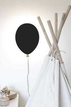 Vägglampa Balloon Svart
