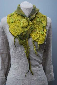 hand felted scarf collar
