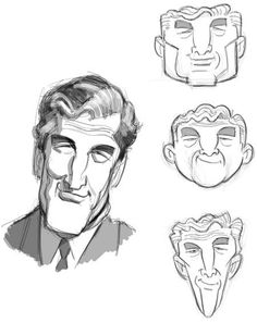 Head study   Illustrator: Cedric HohnStadt.