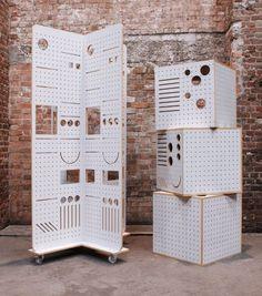 display / pegboard cubes