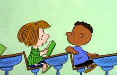 Here's how teacher Harriet Glickman wrote a letter to Schulz -- and changed comics history. Charlie Brown Thanksgiving, Charlie Brown Peanuts, Peanuts Cartoon, Peanuts Gang, Franklin Peanuts, Black And White People, Snoopy Quotes, Black Characters, Classic Comics