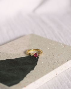 gold plating over sterling silver. Burmese ruby and opal.