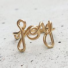 "individueller Gold Ring ""JOY"" // individual ring gold by KIZZU via DaWanda.com"