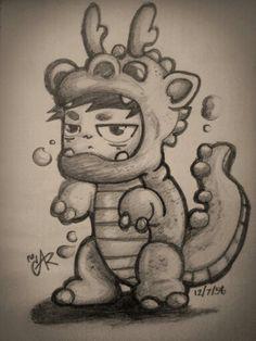 my dragon. #drawing #character