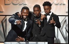 Trevante Rhodes, Ashton Sanders and Alex R. Hibbert onstage during the 69th Annual Directors Guild of America Awards at The Beverly Hilton Hotel on February 4, 2017 in Beverly Hills, California.