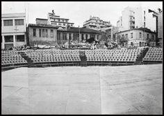 """Αρχαίο θέατρο Ζέας, Πειραιάς 1970's. Φωτογραφία από το βιβλίο του Διονυσίου Πανίτσα """"Ο άρχοντας του Πειραιώς""""."""