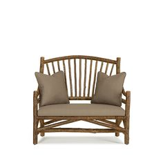 Rustic Settee #1150 shown in Natural Finish (on Bark) by La Lune Collection