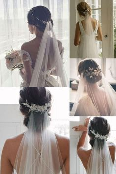 Veil Hairstyles, Flower Girl Hairstyles, Wedding Hairstyles For Long Hair, Wedding Hair And Makeup, Hair Wedding, Indian Hairstyles, Bridal Hair With Veil Updo, Office Hairstyles, Stylish Hairstyles