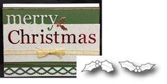 Mini Holly Leaves metal die set Memory Box cutting dies 98658 Christmas #MemoryBox