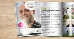 Magazine Spraakwater; Woon-zorgcentrum. Bladformule, concept, ontwerp, redactie, fotografie.