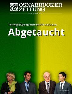 Die schlechten Ergebnisse bei der #Bundestagswahl führen bei #FDP und #Grünen zu personellen Konsequenzen. Lesen Sie mehr in der iPad-Abendausgabe vom 23. September 2013.