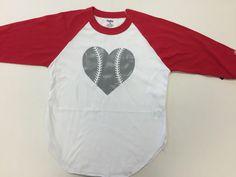 Heart Baseball Raglan T-Shirt