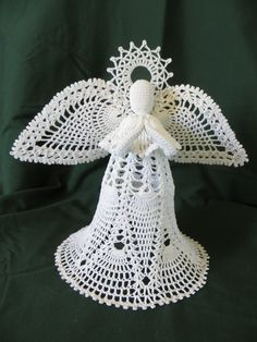 Crocheted Angel by panhandleannies on Etsy, $28.0