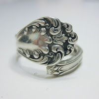 rings made from sterling silver spoon handles, I'm heading to Value Village to find a spoon ASAP!