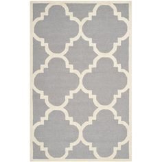 Safavieh Rodgers Hand-Tufted Silver/Ivory Area Rug & Reviews | Wayfair UK 121x182