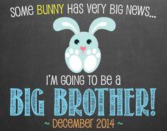 Easter Pregnancy Announcement Chalkboard // by MMasonDesigns, $15.00