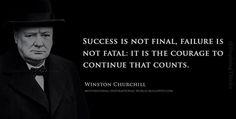 Success is....... Winston Churchill