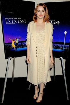 Emma Stone attends a Special Screening of 'La La Land' in New York on October 18th, 2016.