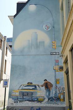 Street art, Brussels - Parcours BD - XIII - William Vance & Jean Van Hamme - Rue Philippe de Champagne