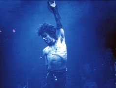 Prince ditched his shirt while performing live at the Fabulous Forum on Feb. 19, 1985 in Inglewood, California.
