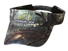 Redfish Pattern Full Camo Visor. Constructed from rugged poly twill fabric with anti-microbial treatment for freshness and wicking moisture management keeps the cap cool. Fishouflage logo on the front of the cap with velcro closure on the back.
