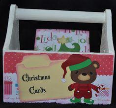Christmas card holder